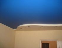 Сатиновый натяжной потолок на кухню 1465895256